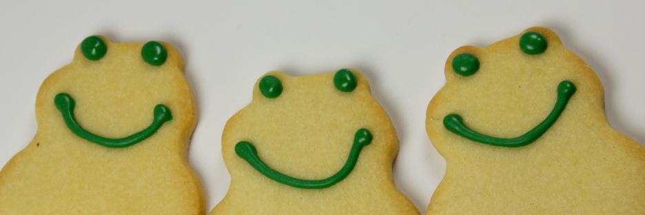Butter Cookie Frogs