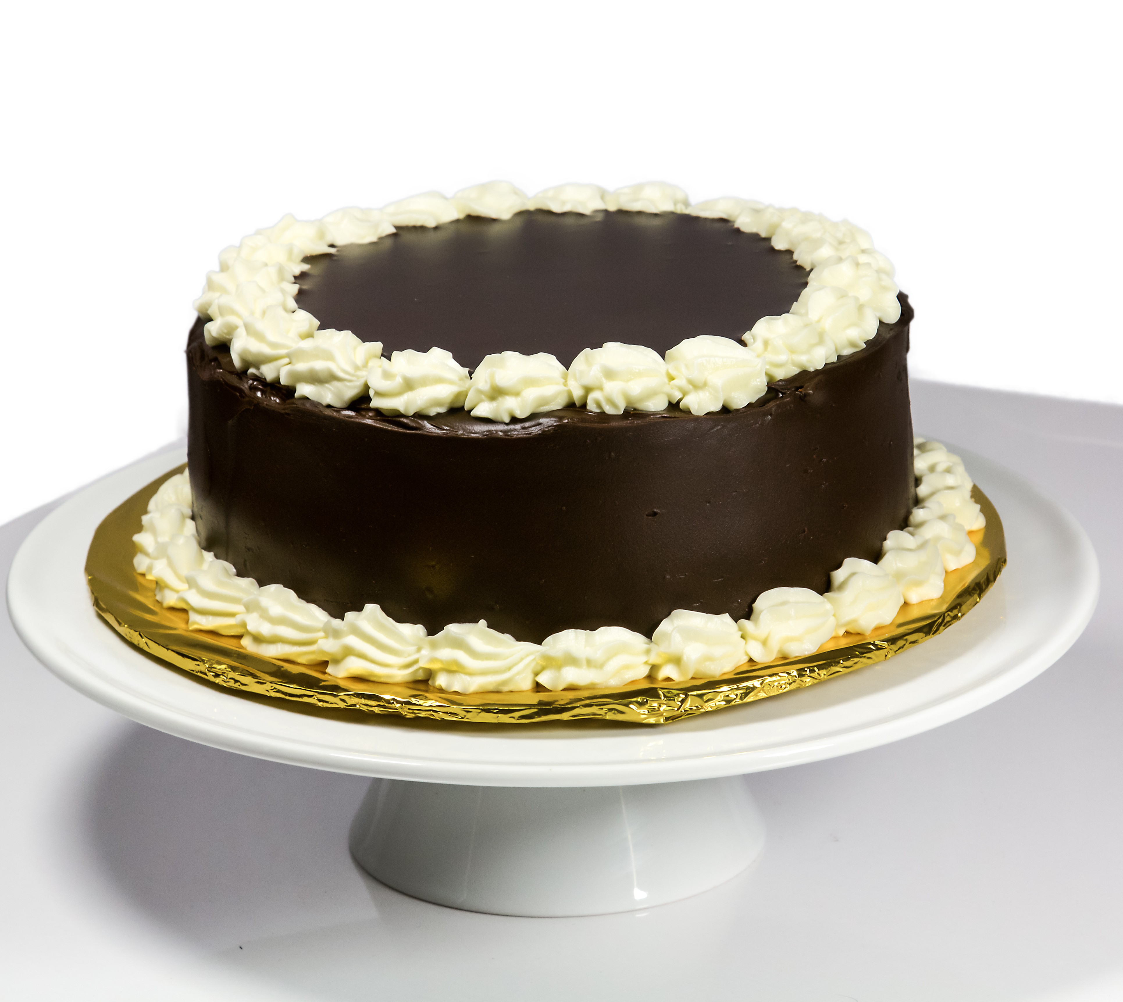 Chocolate Cake with Vanilla Buttercream Filling and Chocolate Ganache ...