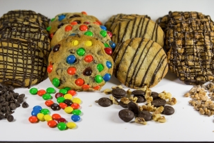 Chocolate Chip, Chocolate Chip with M&M's, Chocolate chip with Walnuts, Toffee Chip